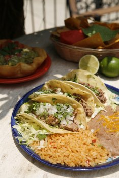 Tacos with authentic Mexican ingredients