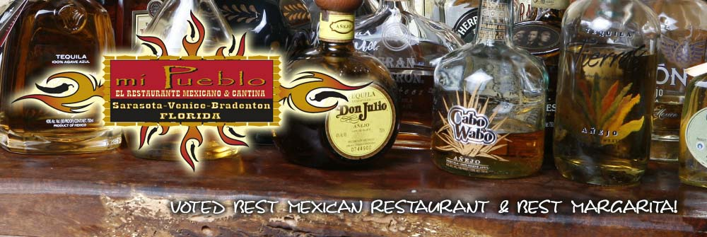 Sarasota Mexican Restaurant Tequila selection